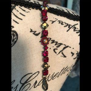 Sorrelli Garnet & Gold Bracelet
